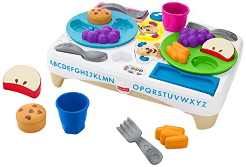 Fisher-Price FBM90 Laugh and Learn Say Please Snack-Spielset (englische Version) Puzzles Fisher Price