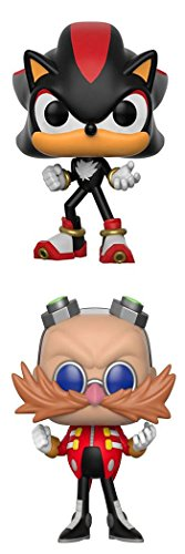 FunkoPOP Sonic The Hedgehog: Shadow + Dr. Eggman – Stylized Video Game Vinyl Figure Bundle Set