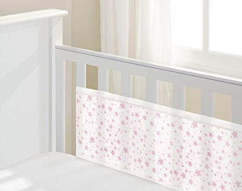 Lit bébé 2Face Doublure en maille respirant, Twinkle Twinkle, Rose étoiles
