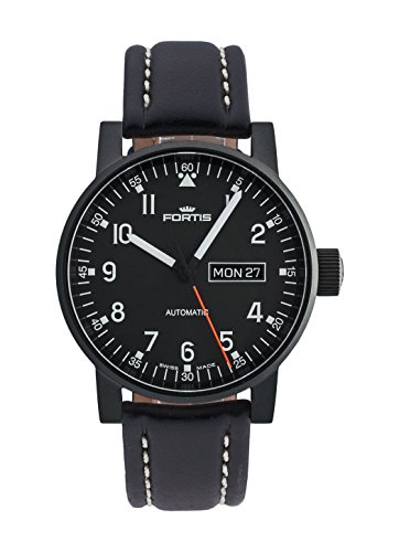 Fortis gents-wristwatch Spacematic Pilot Professional giorno/data analogico automatico 623.18.71 l.01