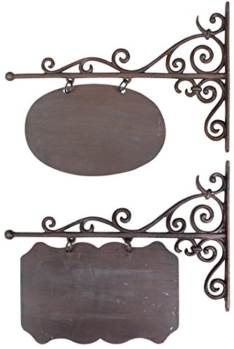 Esschert Design Wandschild, Namensschild, rechteckig oder oval, groß, 1 Stück, Sortiert, ca. 45 cm x 3 cm x 39 cm -