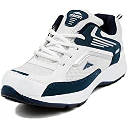 Asian Shoes Men's White & Nevy Blue Sports Shoes(6 Uk)