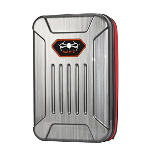 Anbee Harte Schale Transportkoffer Backpack Rucksack Case für DJI Mavic Pro Drohne (Grau)