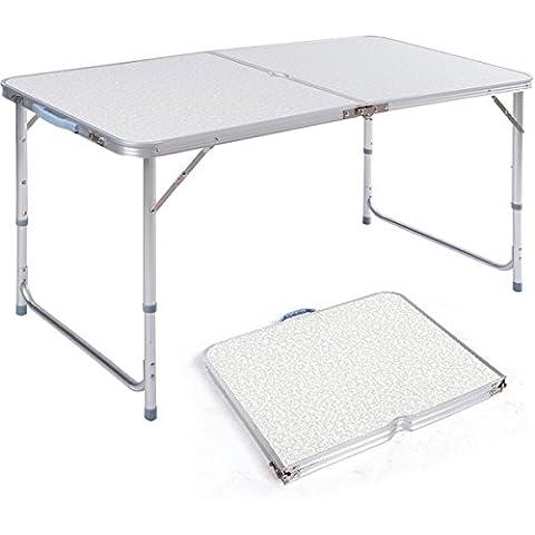 DXP Mesa plegable portátil Camping Terraza Jardín Mesa de aleación de aluminio AFT-02