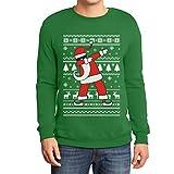 Weihnachten Dab vom Weihnachtsmann Weihnachtspullover Xmas Pulli Sweatshirt Medium Grün