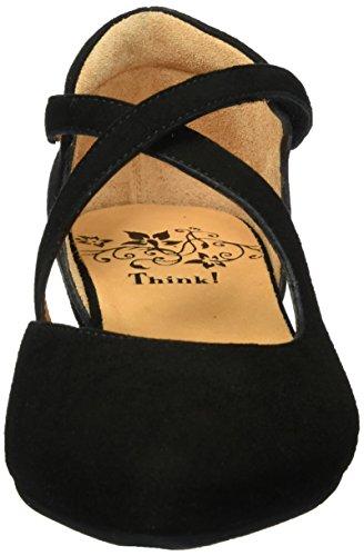 Think 80238, Ballerine Donna Nero (Schwarz 00)