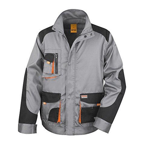 Result - work-guard lite - abbigliamento da lavoro - giacca (traspirante e antivento) - uomo (4xl) (grigio nero arancione)