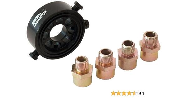Raid Hp 660448 Oil Filter Adapter Set Oil Temperature Oil Pressure Sensor With 4 Threads Auto