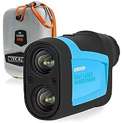 Mileseey Binoculares Láser de Telémetro de Precisión Pro para Golf 660 Yardas 6X de Aumento con Modelo de Pendiente/Pin/Escaneo para Entrenamiento de Golf