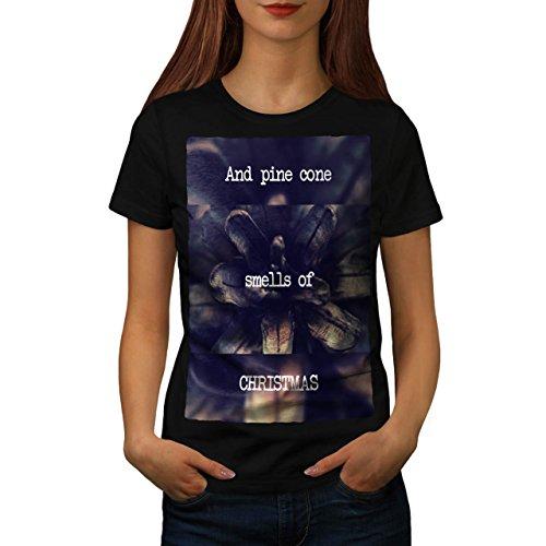 Kiefer Kegel Baum Weihnachten Ferien Damen S T-shirt   Wellcoda (Schnee Kegel Kostüm Ideen)