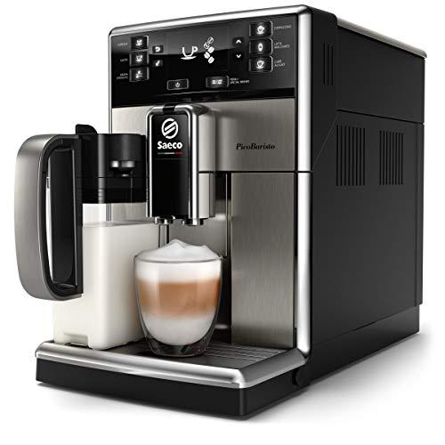 Saeco - Cafetera (Independiente, Máquina espresso, 1,8 L, Granos de café, De café molido, Molinillo integrado, Acero inoxidable)