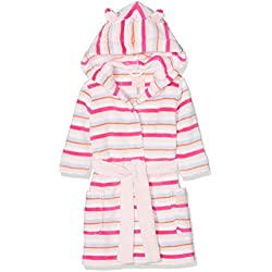 Joules Girl's Teddy Dressing Gown, Off- Off-White (Cream Multi Stripe Crmmstp), Years (Size: 7-8)