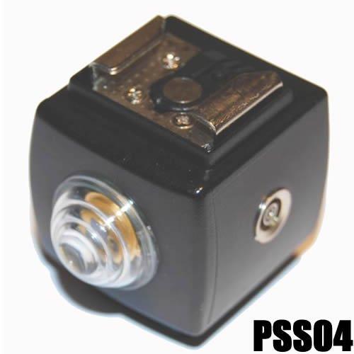 DynaSun Optischer Servo Blitzauslöser PC Buchse PSS4 ISO-Blitzschuh Blitz schwarz