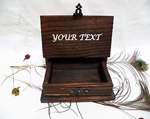 Kartenbox, Box, Trauzeugen Box Vintage, Schatz Kasten, Ehemann Geschenk Kasten, Mann das Geschenk-Buch, Personalisierte Brust