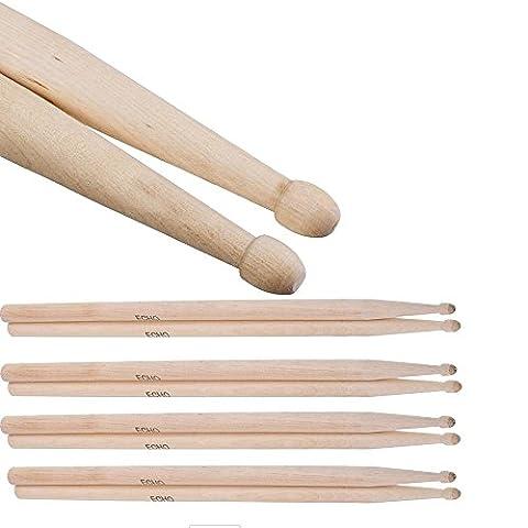 Aohro Trommelstöcke / Sticks / Drumsticks(1 Paar) 5A Ahorn / Maple Stöcke für Schlagzeug - für Kinder
