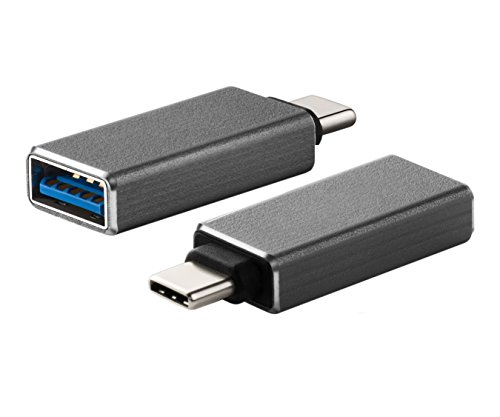 Zactech Mini USB 3.1 USB-C Type C Male to USB 3.0 A Female Adapter OTG for Apple Mac