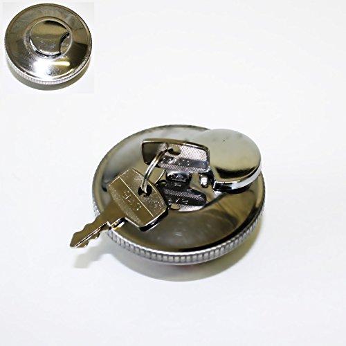 Tankdeckel 40 mm Chrom Abschließbar - Zündapp Kreidler Hercules Puch DKW Mofa Moped Mokick ( M-87177 ) + BISOMO® Sticker