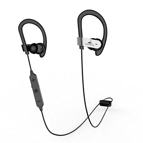 Meidong HE8C Aktive Noise Cancelling Bluetooth In Ohr Kopfhörer Sweatproof Sport Ohrhörer mit Deep Bass/Hart Reisetasche / 15 Stunden Spielzeit/apt-X CSR Eingebautes Mikrofon für iOS/Android 【Update】