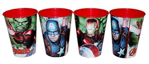 4 Stück Marvel Avengers Trinkbecher Saftbecher Becher Set Hulk Iron Man Captain America