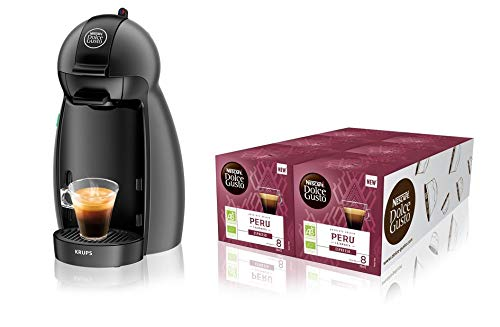 Krups YY2283FD Machine à Café à Capsules Nescafé Dolce Gusto Piccolo Anthracite Manuelle...