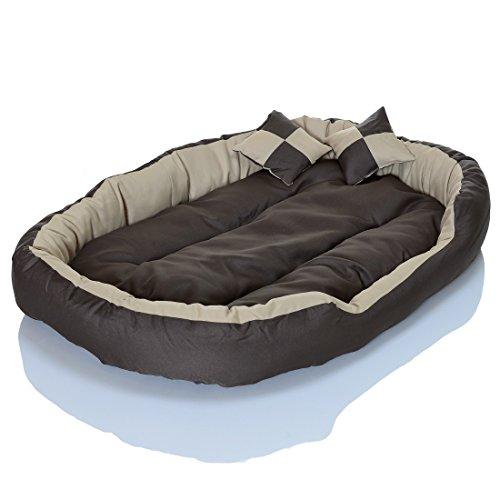 4in1 Hundebett XXL – kuscheliges, waschbares Hundekissen Sofa – Hundekorb Farbe: Creme Gr. L - 3