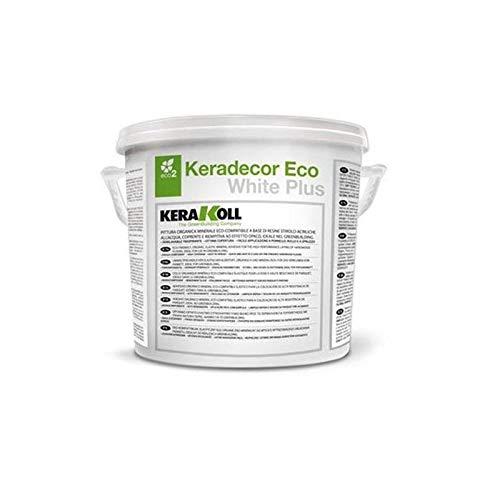 Keradecor Eco White Plus Pittura Minerale Organica Bianca Lt. 4 Kerakoll