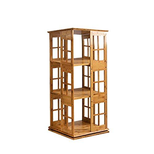 Shelf ZHANGRONG- 3/4/5/6-tier Bücherregal 360 Grad Kreativität Rotierenden Bambus Einfache Bücherregal Kleine Bücherregal Bodenständer - Wanddekoration (Größe : 37*37*95cm) (6-tier-bücherregal)