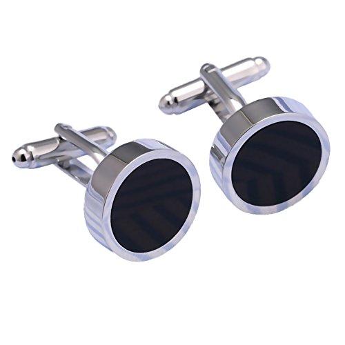 Gemelos para hombres botones únicos de acero...
