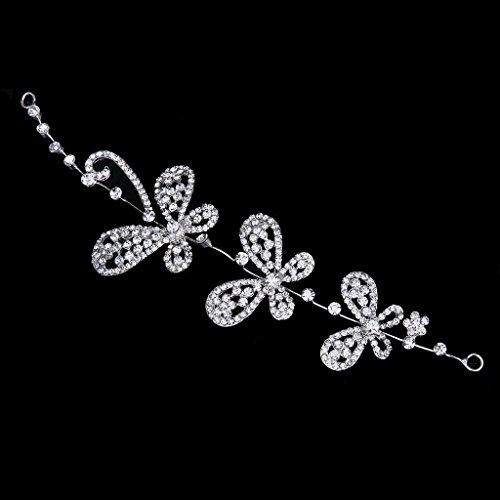 Nupcial Tiara Diadema Cintillo Para Boda Novia Dama De Honor Diamante Mariposa