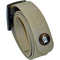 PlugBelt & Ball Marker Kakhi - Cinturon de golf para hombre, silicona, unitalla, biodegradable, resistente y libre de metales.