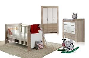 Wimex 384381 babyzimmer set emily bestehend aus kleiderschrank 3 t rig 135 cm babybett 70 x 140 - Wimex babyzimmer ...