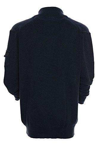 Kitaro Pullover Herren Langarm Baumwolle Basalt Blue