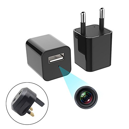 Hidden Cameras 1080P HD USB Wall Charger Hidden Camera,Nanny Spy Camera Charger Adapter Plug with Motion Detection Function Attach Multi-language Instruction Manual