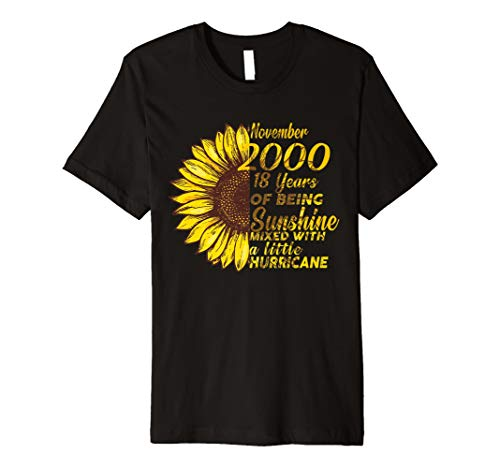 November 2000 Retro Shirt Sunshine 18th Birthday Decorations