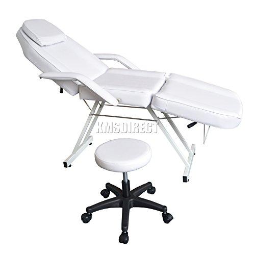 Preisvergleich Produktbild FoxHunter Beauty Salon Stuhl Balance Massage Tisch Tattoo Facial Pediküre Therapie Schlafcouch mit Hocker fh-sbs-01 weiß