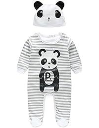 Babykleidung URSING Baby Junge Mädchen Unisex Kleider niedlich Tier Strampelhöschen Pyjama Mit Hut Lange Ärmel draussen Overalls Nachtwäsche