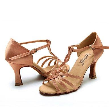Chaussures De Danse - Unframeable - Pour Femme - Danse Latino-américaine / Jazz / Moderne / Swing Shoes - Spool Talon - Satin - Noir