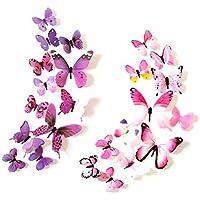 Pegatinas de pared,GKONGU 36 Piezas 3D Adhesivos de Mariposas de Impermeable Para Decoración de la Pared Para Casa Habitación-Pegatina
