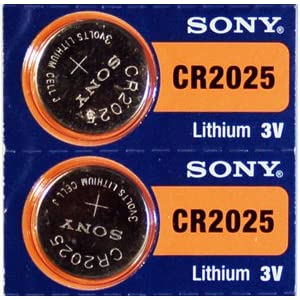 2PC Sony CR2025 2025 Lithium 3 V Armbanduhr Knopfzell-Batterien