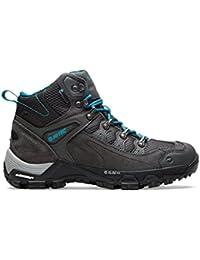 Hi Tec Pathfinder Botas para caminar para mujer Senderismo Trail zapatos gris oscuro, Gris, 42