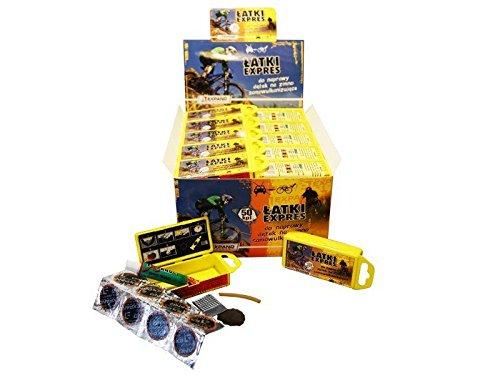 RoSoy 1 Set Kit di Riparazione di Emergenza per Bici da Moto per Auto Riparazione di Perforazione di Pneumatici tubeless Pesanti