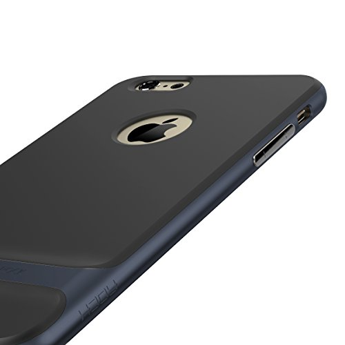 ROCK Royce Series Case für IPhone 6 Plus & IPhone 6S Plus (5,5 Zoll) PC + Imported TPU Dual Layer Ultra Thin & Slim Gehäuse Shockproof Anti-Scratch ( Color : Gold ) Navy Blue