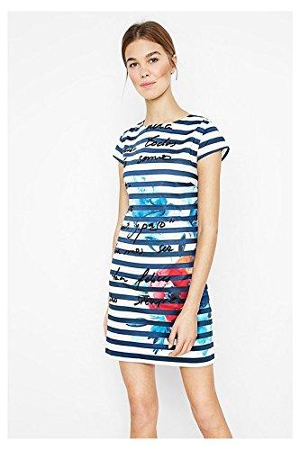 DESIGUAL - Vestito donna maniche corte sil 38 (s) blu