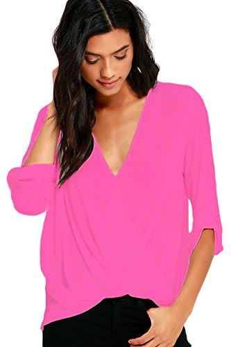 new-damen-rose-drapierung-vorne-bluse-club-tragen-tops-party-wear-casual-wear-kleidung-gre-m-uk-12