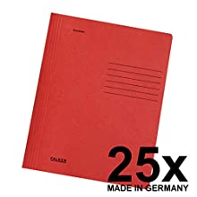 Falken A4 File Folder Intense Colours Recycled Cardboard for Commercial and Government File Folding 25er Pack red