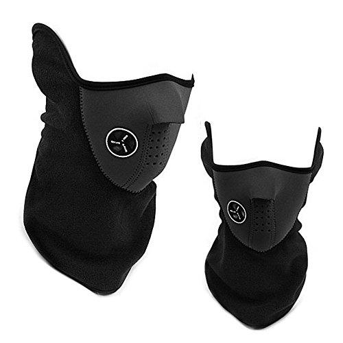 Delmkin Skimaske Motorrad Gesichtsmaske Sturmmaske Winter-Gesichtsschutz (schwarz)
