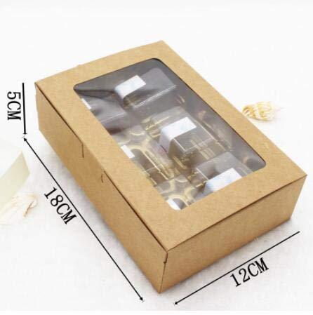aun Kraft Papier Box Mit Fenster Weihnachten Geschenk Box Verpackung Cookie Macaron box Candy Hochzeit Geschenke Für Gäste ()