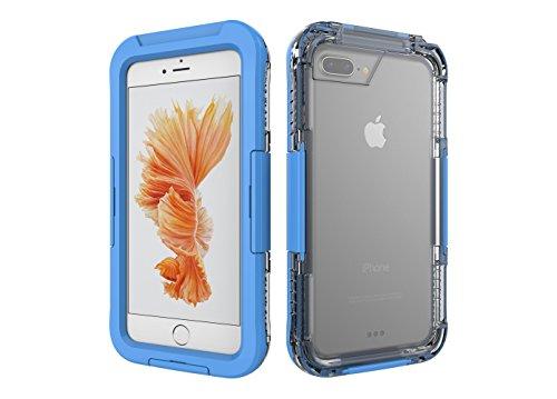 Aohang Coque iPhone 7 Super étui imperméable à l'eau étui pour iPhone 7 4.7 pouces Extrêmement imperméable à l'eau anti-choc dernières mises à jour case iPhone7 pour la natation, la plongée, le ski, e Sky blue