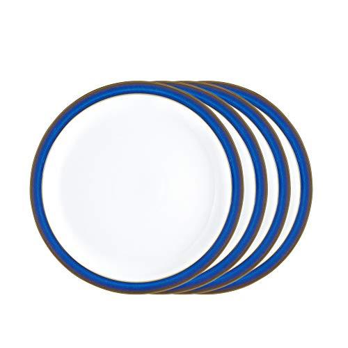 Denby IMP-004/4 Imperial Blue Salatteller-Set, Einheitsgröße, bunt, 4 Stück Denby Blue Plate