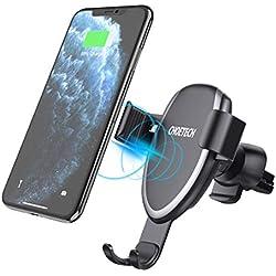 CHOETECH Chargeur sans Fil Rapide Voiture, Chargeur à Induction 7, 5W pour iPhone 11 Pro Max/11 Pro/11/XS/Max/XR/X/8/10W pour S10 Note 10 S9 S8 Note 9 8, 5W LG V30+ Huawei P30 Pro